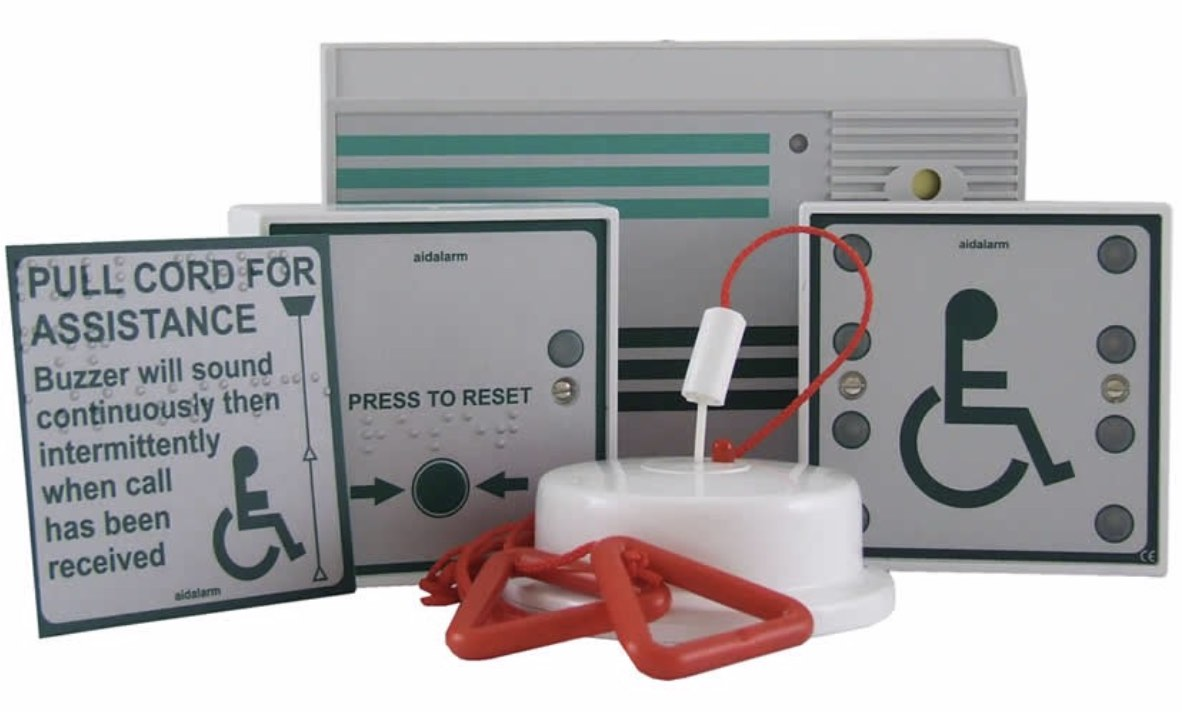 Aidalarm Disabled Persons Toilet Alarm Kit
